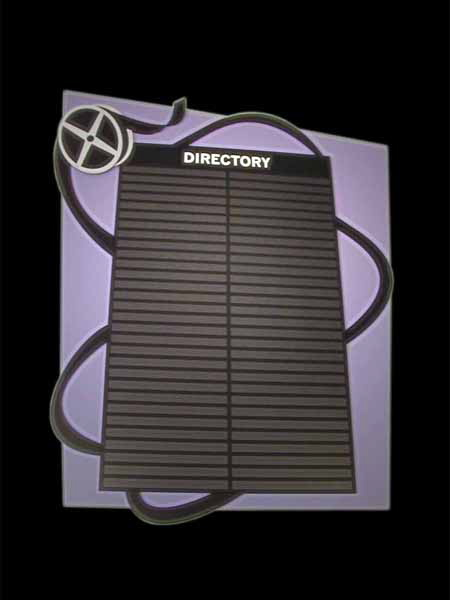 Kroy Signs Acrylic Directory And Directional Sign Panel